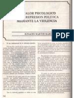 El Valor Psicológico de La Represión Política Mediante La Violencia (1975d)