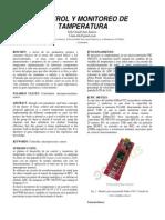 Control y Monitoreo de Tamperatura