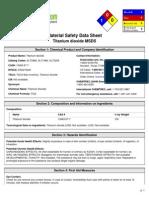 Msds - Titanum Dioxide