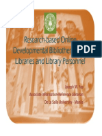 Research-based online developmental bibliotherapy for libraries and library personnel