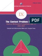 The Maths Contest Problem Book IX 2001-2007