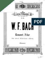 w.f. Bach- Sonata for 2 Hapsicord