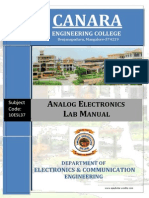 Analog Electronics Lab Manual-10esl67