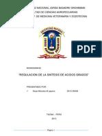 Monografia Regulacion de La Sintesis de Acidos Grasos