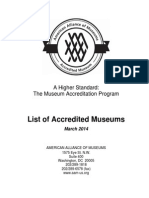 Accredited Museums List (2014)