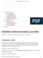 Definition of Basic Insulation Level (BIL) _ EEP