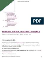 Definition of Basic Insulation Level (BIL) _ EEP