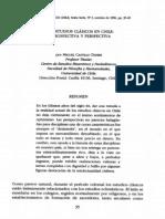 Los Estudios Clásicos en Chile Castillo Didier
