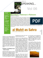 Islamically Speaking Newsletter VOL. 6