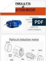 Fmea & Fta of Induction Motor by Anjali