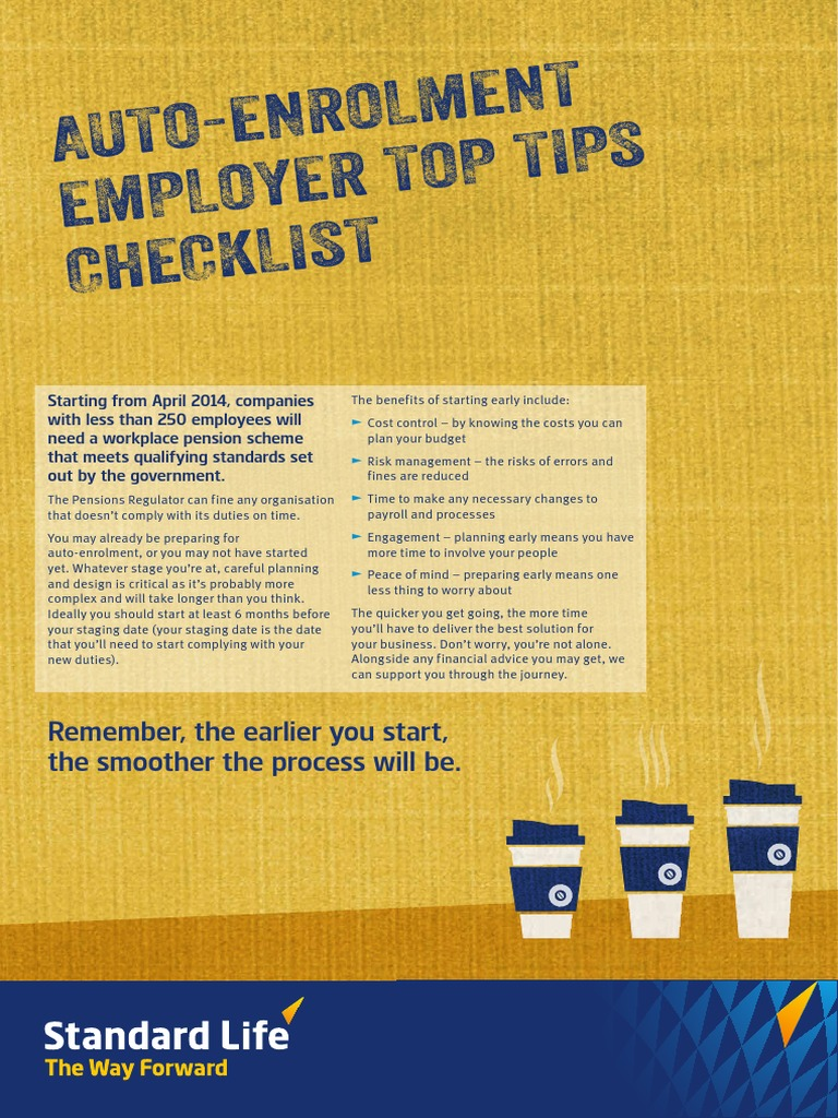 auto enrolment employer tips | pension | payroll