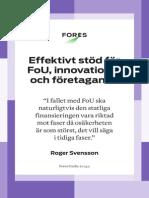 Effektivt stöd för FoU, innovationer och företagande