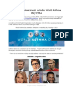 Healthcare Awareness in India World Asthma Day 2014