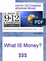 Jake Towne for US Congress - Constitutional Money (Nov 2009)