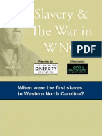 Slavery and the War in WNC