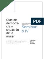 Olas de democracia y situación de la mujer SEMINARIO 4 completo