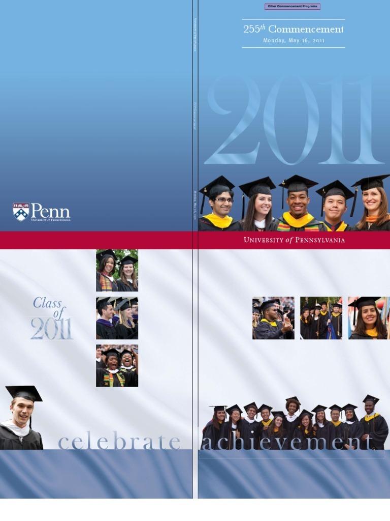 University of Pennsylvania 2011 Commencement Program | University Of ...
