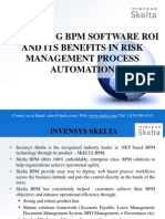Measuring BPM Software ROI and its benefits in Risk Management process automation