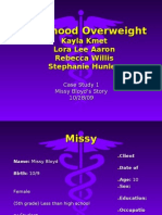 Nutrition 415 - Case Study Power Piont