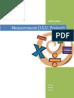 Gr.9 Pre-IB Unit 10 Measurement