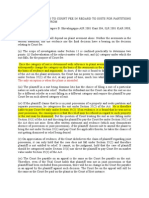 Principles Relating to Court Fee in Regard to Suits for Partitions and Appeals Therefrom