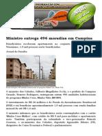 Ministro Entrega 496 Moradias Em Campina