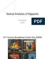 Textual Analyses of Digipacks