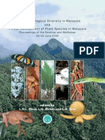 Status of Biological Diversity in Malaysia and Threat Assessment of Plant Species in Malaysia
