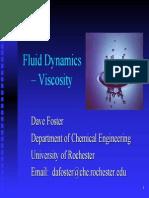 Fluid Dynamics Viscosity