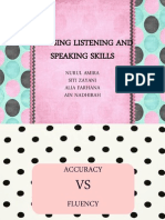 Assessing Listening and Speaking Skills