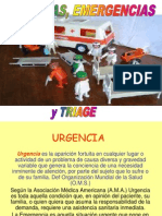 URGENCIAS, EMERGENCIAS Y TRIAGE.ppt