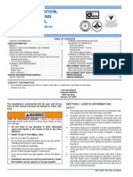 USER'S INFORMATION, MAINTENANCE AND SERVICE MANUAL MODELS