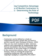 Analyzing Competitive Advantage Strategy of Muslim Contractors in-2003