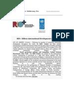 RIO+ Centre Newsletter 1 - Oct 2013