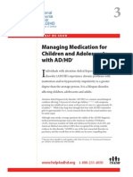 WWK03 Managing Medication for Children and Adolescents With ADHD