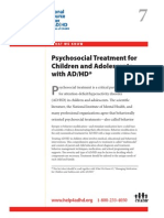 WWK07 Psycho Social Treatment for Children and Adolescents With AD