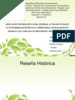 Aplicación Informatica Para General Actas de Notas en La Universidad Politecnica Territorial de Balorvento Argelia Laya Ubicada en Higuerote, Municipio Brion.
