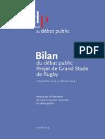 Grand Stade de Rugby - Bilan Du Débat Public