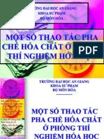 Mot So Thao Tac Pha Che Hoa Chat