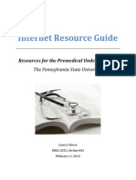 Internet Resource Guide for Pre-Medical Students