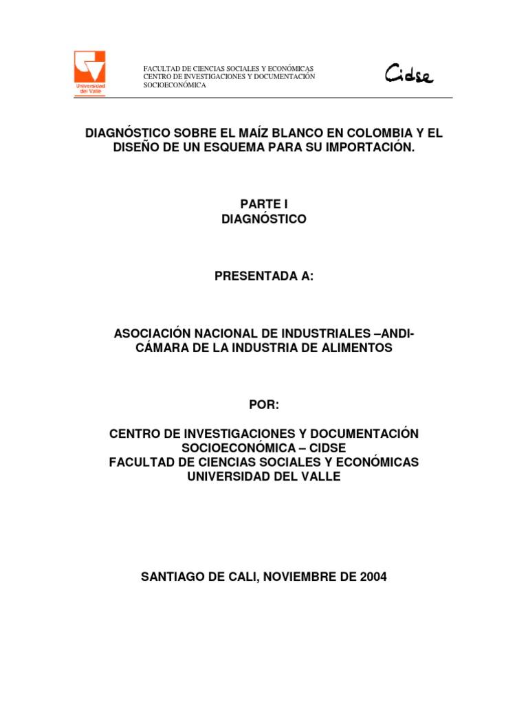 Estudio Y Diagn Stico Sobre El Ma Z Blanco En Colombia Y El Dise O  # Muebles Roldan Tulua
