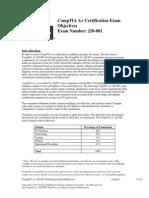 CompTIA a 220-801 Objectives