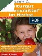"""Kulturgut """"Lebensmittel"""" im Herbst - Leseprobe"""
