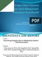 Presentasi Jurnal Reading Fixed Drug Eruption Due to Allopurinol