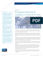 Colliers International European Industrial Logistics a Long Term View