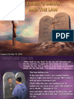 2nd Quarter 2014 Lesson 6 Christ's Death and the Law
