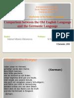 Modern German & Old English + Diachrony