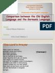 Modern German & Old English + Diachrony1