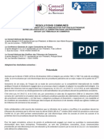 Convention pour la dématérialisation des procédures devant les juridictions commerciales