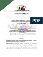 Acuerdo 008 de 2009 - Misión y Visión Institucionales